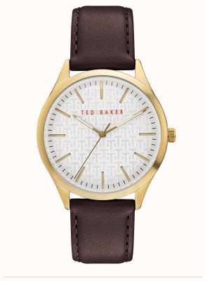 Ted Baker | Men's | Manhatt | Burgundy Leather Strap | Silver Dial | BKPMHF901