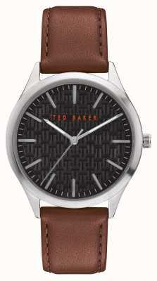 Ted Baker | Men's | Manhatt | Brown Leather Strap | Black Dial | BKPMHF902