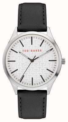 Ted Baker | Men's | Manhatt | Black Leather Strap | Silver Dial | BKPMHF903