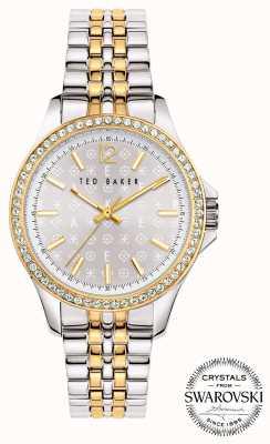 Ted Baker | Women's | Nicolya | Two-Tone Steel Bracelet | Silver Dial | BKPNIF902