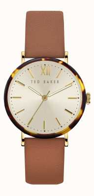 Ted Baker | Women's | Phylipa | Brown Leather Strap | Silver Dial | BKPPHF913