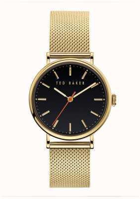 Ted Baker | Women's | Phylipa | Gold Mesh Bracelet | Black Dial | BKPPHF919