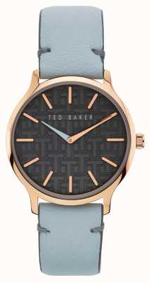 Ted Baker | Women's | Poppiey | Grey Leather Strap | Black Dial | BKPPOF901