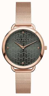 Ted Baker | Women's | Hettie | Rose Gold Mesh Bracelet | Black Pattern Dial | BKPHTF912