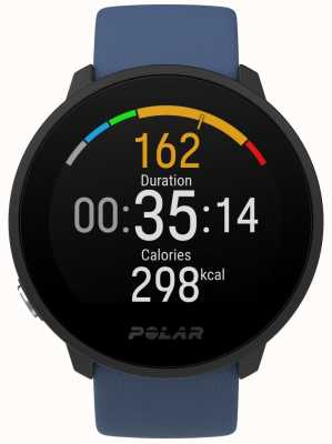 Polar Unite Blue Rubber Strap Black Dial 90081804