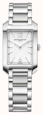 Baume & Mercier Hampton Rectangle | Women's | Stainless Steel | Silver Dial M0A10473