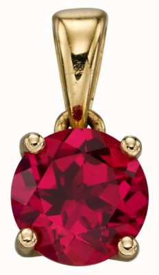 Elements Gold 9cgt Y/g Cz Ruby July Birthstone Pendant Only GP2194