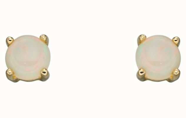 Elements Gold 9ct Yellow Gold Opal October Birthstone Studs GE2335