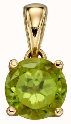 Elements Gold 9ct Y/g Peridot Cz August Birthstone Pendant Only GP2195