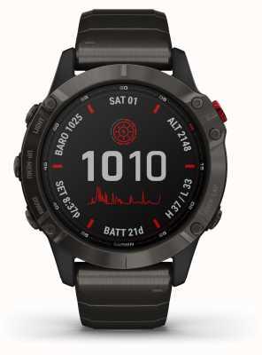 Garmin Fenix 6 Pro Solar   Titanium Carbon Grey DLC Bracelet 010-02410-23
