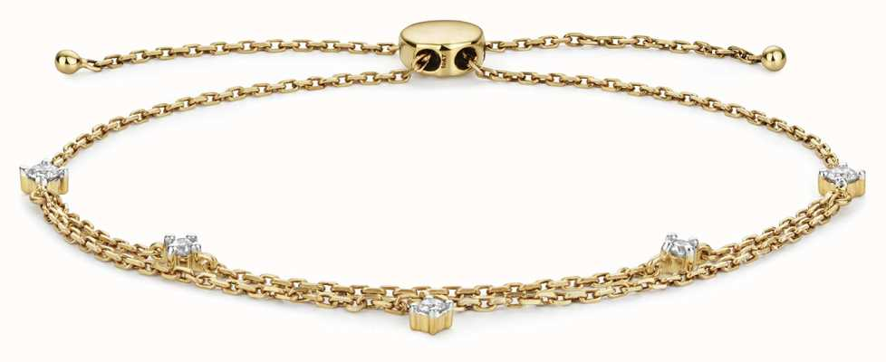 Treasure House 9k Gold 0.25ct Diamond Adjustable Bracelet BD032