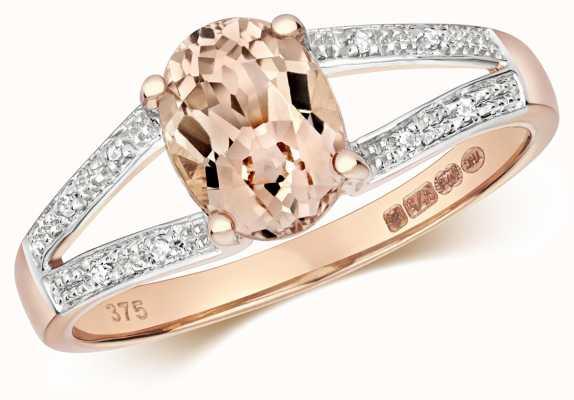 Treasure House 9ct Rose Gold Diamond & Morganite Ring RD467RM