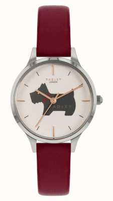 Radley Meridan Place | Red Leather Strap | Dog Motif Dial RY2973