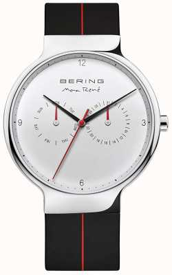 Bering Max René | Black Rubber Strap | Silver Dial 15542-404