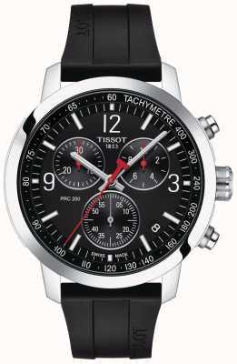 Tissot PRC 200 | Chronograph | Black Dial | Black Rubber Strap T1144171705700