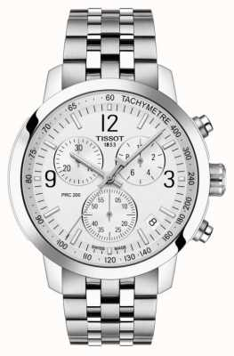 Tissot PRC 200 | Chronograph | white Dial | Stainless Steel T1144171103700