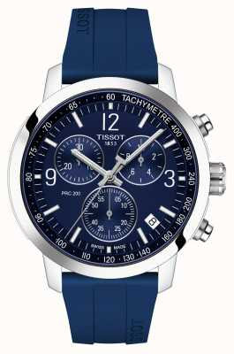 Tissot PRC 200 | Chronograph | Blue Dial | Blue Rubber Strap T1144171704700