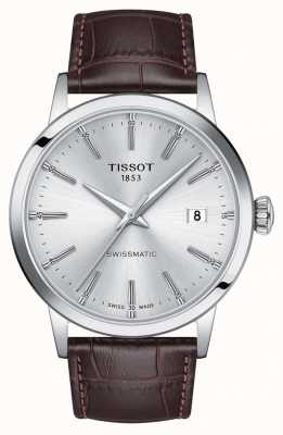 Tissot | Swissmatic | Silver Dial | Brown Leather Strap | T1294071603100