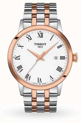 Tissot Classic Dream   White Dial   Two Tone Stainless Steel T1294102201300
