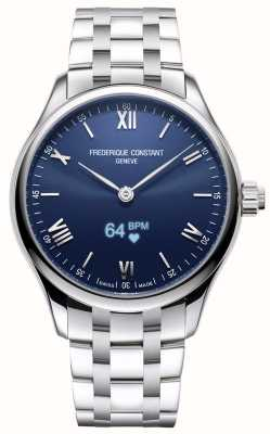 Frederique Constant Mens | Vitality | Smartwatch | Blue Dial | Stainless Steel FC-287N5B6B