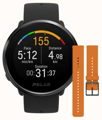 Polar | Ignite | Black Case | Black Orange Strap Set | M/L | 90084126