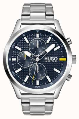 HUGO Men's #CHASE | Blue Dial | Stainless Steel Watch 1530163