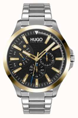 HUGO #LEAP Casual | Black Dial | Stainless Steel Bracelet 1530174
