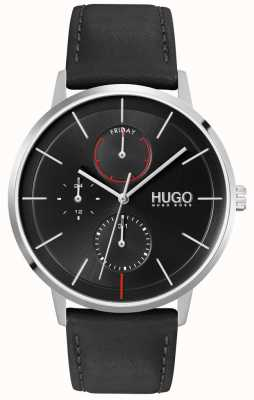 HUGO #EXIST Business | Black Dial | Black Leather Strap 1530169