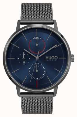 HUGO #EXIST Business | Blue Dial | Grey IP Mesh Strap 1530171