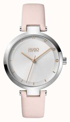 HUGO Ladies #HOPE Casual | Silver Dial | Blush Leather Strap 1540074