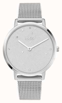 HUGO Ladies #DREAM Business | Swarovski Dial | Stainless Steel Mesh 1540066