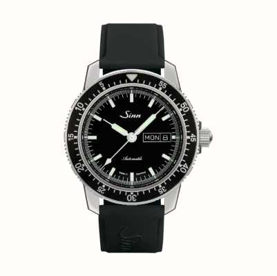 Sinn 104 St Sa I Classic Pilot Watch Black Rubber Strap 104.010 BLACK RUBBER