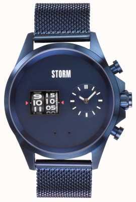STORM Kombitron IP-Blue | Blue Mesh Bracelet | Blue Dial 47466/B