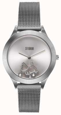 STORM Cassie Silver | Silver Mesh Bracelet | Silver Dial 47471/S