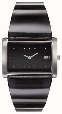 STORM Trexa Black | Black/Silver Steel Bracelet | Black Dial 47473/BK