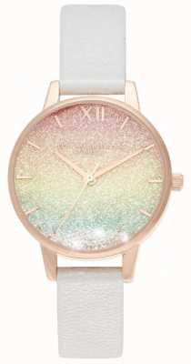 Olivia Burton | Rainbow Wishing Wave | Glitter Dial | Leather Strap | OB16EX228