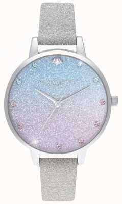 Olivia Burton Glitter Ombre Demi Dial, Sparkle Markers Glitter Strap OB16US49