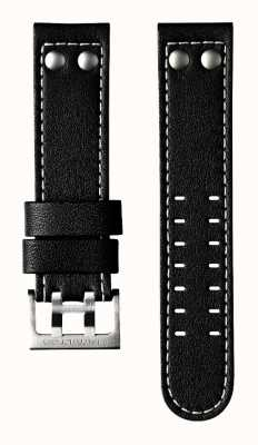 Hamilton Black Cow Leather 22mm Strap Only - Khaki Aviation H600706100