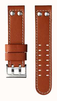 Hamilton Brown Cow Leather 22mm Strap Only - Khaki Aviation H600776103