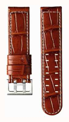 Hamilton Light Brown Calf Leather 22mm Strap Only - Khaki Aviation H600647102