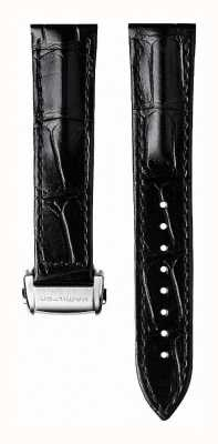 Hamilton Black Calf Leather 20mm Strap Only Folding Clasp- Jazzmaster H600324116