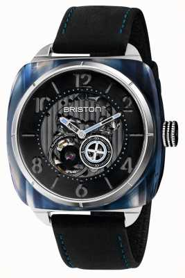 Briston Streamliner Skeleton Auto | Blue Acetate | Black Leather 201042.SA.BL.1.CH