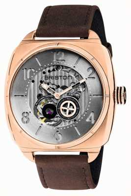 Briston Streamliner Skeleton Auto | Rose Gold IP | Brown Leather 201042.SPRG.SK.2.C
