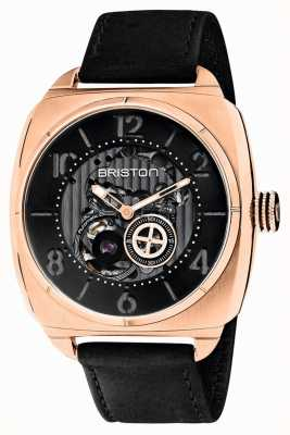 Briston Streamliner Skeleton Auto | Rose Gold IP | Black Leather 201042.SPRG.SK.1.CH