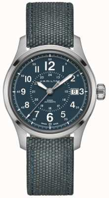 Hamilton Khaki Field Auto 40mm Blue Canvas H70305943