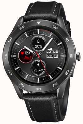 Lotus SmarTime | Men's | Black Leather Strap + Free Strap 50012/3