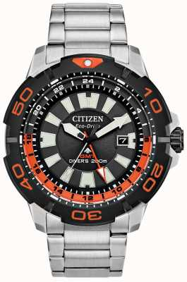 Citizen Promaster Diver GMT | Stainless Steel Bracelet | Black Dial BJ7129-56E