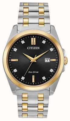 Citizen Men's Corso Diamonds Eco-Drive Two-Tone Watch BM7107-50E