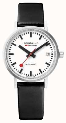 Mondaine Classic Automatic Date 33 Mm | Black Leather Strap A128.30008.16SBB
