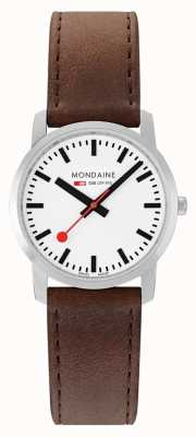 Mondaine Simply Elegant 36 Mm | Brown Leather Strap A400.30351.11SBG